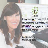 land academy cofounder CEO Jill DeWit learning from land investment community nuggets to help you 2019